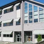 Næringsbygg fasade markiser